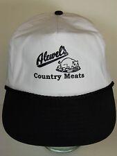 Vtg 1990s ALEWEL COUNTRY MEATS Hog Pig Advertising Missouri SNAPBACK HAT CAP