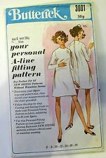 Vintage Sewing Pattern - 1960s MOD A-line DRESS, Size 6 Bust 30.5""