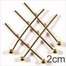 Lot of 50 nails Rods with head Balls 2cm Golden for jewelery creation