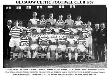 GLASGOW CELTIC F.C. TEAM PRINT 1958 (CRERAND / COLLINS / HAFFEY / FERNIE)
