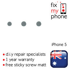 iPhone 5 5G Volume Power On Off Button Spacer Metal Back Iron Silver Circle