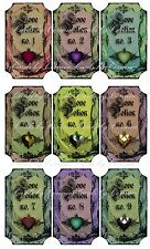Halloween Love potion label stickers set of 9 scrapbooking crafts party favors