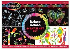 Melissa & Doug Deluxe Combo Scratch Art Set, New, Free Shipping