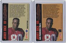 JERRY RICE 1994 ACTION PACKED CATCHING FIRE SET : PROTOTYPE & INSERT FB944 & R1