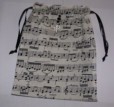 Black and White Music Notes Tarot, Runes, Crystals, Angel Bag