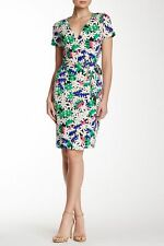 NWT Diane von Furstenberg New Julian Two Garden Daisy Multi Wrap Dress 14 $398