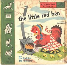 CHILDREN'S PICTURE SLEEVE + 45--(LITTLE RED HEN)--PS--PIC--SLV