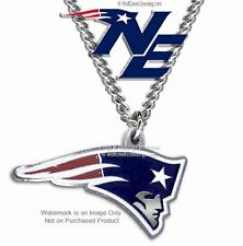 "NEW ENGLAND PATRIOTS NECKLACE for MALE OR FEMALE  24"" NFL JEWELRY FREE SHIP CB z"