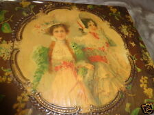 ANTIQUE VICTORIAN ALL CELLULOID LADIES HATS FLORAL SWEET HANDERCHIEF DRESSER BOX