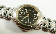 Seiko Two-Tone Stainless Steel 7N82-0AS8 Sample Watch NON-WORKING