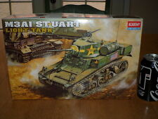 WW#2, USA, M3A1 STUART LIGHT TANK, Plastic Model Kit ,Scale 1/35
