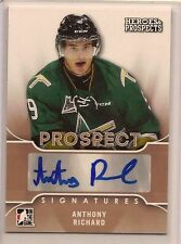ANTHONY RICHARD 15-16 LEAF ITG HEROES & PROSPECTS PROSPECT SIGNATURE AUTO
