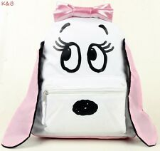 "Brand New  Snoopy Girls 3 D Ears 10""  Mini Backpack Bag  For Kids White Pink USA"
