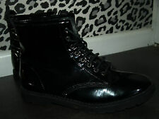 TOPSHOP Doc Martin style patent boots UK 6