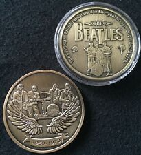 1 English Beatles Rock Band Souvenir Token + Protective Case Poker Card Guard E