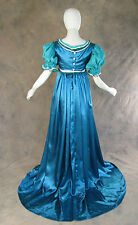 Blue Green Regency Jane Austen Style 2 Piece Tea Ball Gown Costume 2X Cosplay