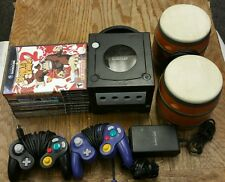 Nintendo GameCube Black Console System w/ 2 Controllers & 8 Games Bundle Gameboy