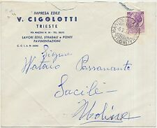 TRIESTE - IMPRESA EDILE V.CIGOLOTTI 1958