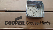 """50 Cooper Crouse-Hinds 4"""" Square Outlet Boxes 1 1/2"""" Deep  # TP414"""
