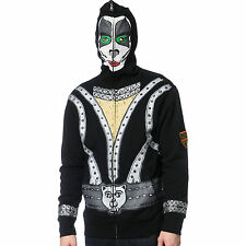 VOLCOM KISS ARMY THE CATMAN ERIC SINGER FULL ZIP HOODED L SWEATSHIRT FACE MASK