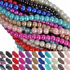 Wholesale Glass Pearl Spacer Loose Beads Bead Charms Findings 4 6 8 mm