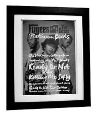 FUGEES+The Score+Ready Not+POSTER+AD+RARE ORIGINAL 1996+FRAMED+FAST GLOBAL SHIP