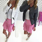 Fashion Casual Women Slim Business Blazer Suit Outwear Jacket Coat Short Coat