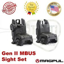 Magpul USA MBUS Gen 2 Flip Up Sights BUIS Set Front & Rear MAG247 & MAG248 Black