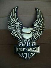 Vintage Harley Davidson Eagle Embossed Vacuform Plastic Sign