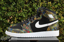 NIKE AIR JORDAN 1 RETRO HIGH BHM I GS SZ 8 Y BLACK VOLTAGE GREEN 739640 045