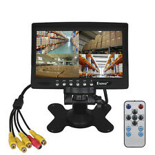 "7"" Four Split Quad Car Reversing LCD Monitor 4 Video AV Input FOV 160° For 4 Cam"