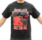 Metallica Kill 'Em All Thrash Metal Band Embroidered Graphic T-Shirts