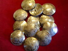 BUTTONS: Ten Peso Mexican Nickle Silver real coin, Lot of 10