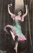 BD526 Carte Photo vintage card RPPC Femme woman danse robe dress fashion mode