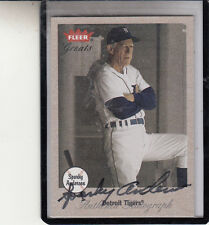 """2002 FLEER GREATS OF THE GAME SPARKY ANDERSON """"NOV 4 2010/REDS"""" AUTOGRAPH AUTO"""