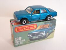 Matchbox Superfast 56c Mercedes 450sel - Blue - Mint/Boxed