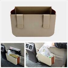 Multifunction Beige Retractable Car Off-Road Seat Back Storage Trash Bin Garbage