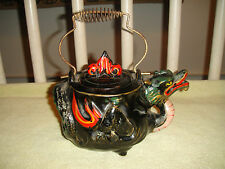 Vintage Japan Or China Painted Dragon Teapot W/Wire Mesh Handle-Marked Bottom