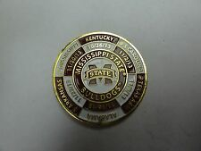 CHALLENGE COIN MISSISSIPPI STATE BULLDOGS 2013 GAMES MAGNETIC