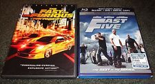 FAST & FURIOUS TOKYO DRIFT & FAST FIVE-2 movies-PAUL WALKER, VIN DIESEL, ROCK