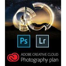 Adobe Creative Cloud, 12 Month Subscription Photography Plan, Software Download