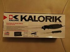 Brand new Kalorik Quick Slice Electric Knife Carving Set with storage - Black