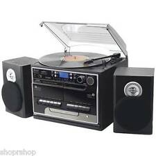 PYLE HOME PTTCSM70BT 3-Speed Turntable with CD & MP3 Player, Radio & Bluetoot