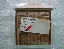 Vintage CARDBOARD CANDY BOX ORNAMENT ~ Christmas Candy Box ~ GROCERY STORE ~ NIP