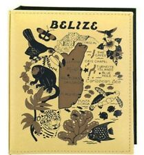 BELIZE CENTRAL AMERICA MAP EMBOSSED PHOTO ALBUM 100 PHOTOS/ 4x6