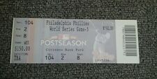 2009 World Series Game 5 un used Ticket Stub Phillies Yankees Chase Utley 5 HRs