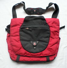 Victorinox Messenger Bag Swiss Army Knife Maker Laptop Shoulder Red Black Travel
