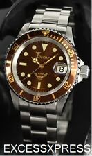 "Brand New Squale Y1545 20 Atmos ""Root Beer"" Brown Watch Warranty Swiss Made"
