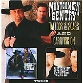 Montgomery Gentry - Tattoos & Scars/Carrying On (2011)  2CD  NEW  SPEEDYPOST