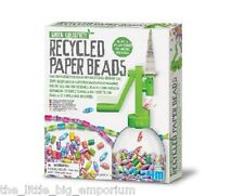 4M Green Creativity Recycled Paper Beads  - Kids Educational Craft Making Kit